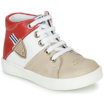 Schoenen Jongens Hoge sneakers GBB AMOS Beige / Wit / Rood