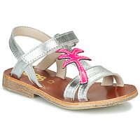 Schoenen Meisjes Sandalen / Open schoenen GBB SAPELA Zilver / Roze