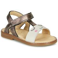 Schoenen Meisjes Sandalen / Open schoenen GBB NAZETTE Beige / Brons