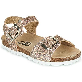 Schoenen Meisjes Sandalen / Open schoenen GBB PIPPA Roze / Gold