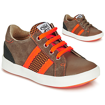 Schoenen Jongens Lage sneakers GBB ANTENO Brown / Orange