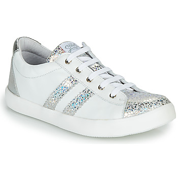 Schoenen Meisjes Lage sneakers GBB MAPLUE Wit / Zilver