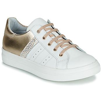Schoenen Meisjes Lage sneakers GBB DANINA Wit / Goud
