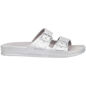 Schoenen Dames Leren slippers Cacatoès Salvador Zilver
