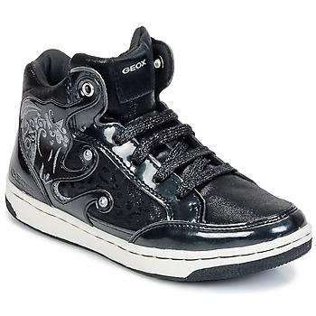 Schoenen Meisjes Hoge sneakers Geox CREAMY A Zwart