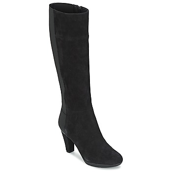 Schoenen Dames Hoge laarzen Geox INSPIRAT ST C Zwart