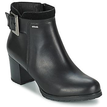 Schoenen Dames Enkellaarzen Geox LISE Zwart