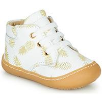 Schoenen Meisjes Hoge sneakers GBB ATARINA Wit / Goud