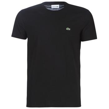 Textiel Heren T-shirts korte mouwen Lacoste TH6709 Zwart