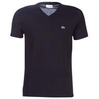 Textiel Heren T-shirts korte mouwen Lacoste TH6710 Zwart
