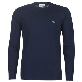 Textiel Heren T-shirts met lange mouwen Lacoste TH6712 Marine