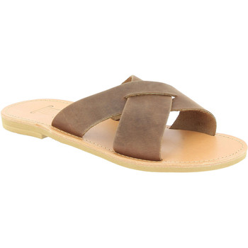Schoenen Heren Leren slippers Attica Sandals ORION NUBUCK DK-BROWN Testa di Moro