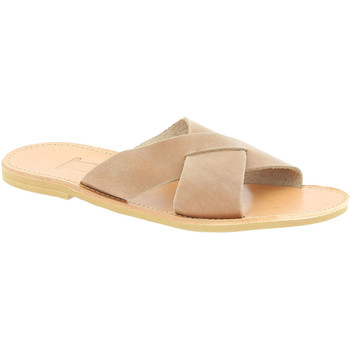 Schoenen Heren Leren slippers Attica Sandals ORION NUBUCK NUDE Marrone chiaro