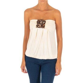 Textiel Dames Overhemden Met Top sans manches Beige