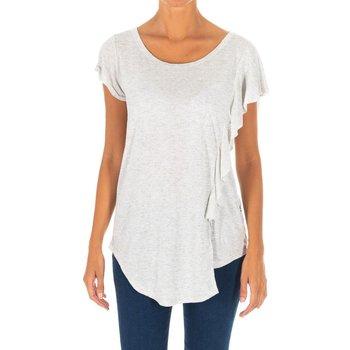 Textiel Dames Tunieken Met T-shirt à manches courtes Grijs
