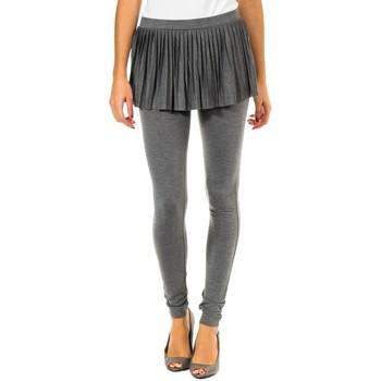 Textiel Dames Leggings Met Leggin  Avec Jupe plissée Grijs
