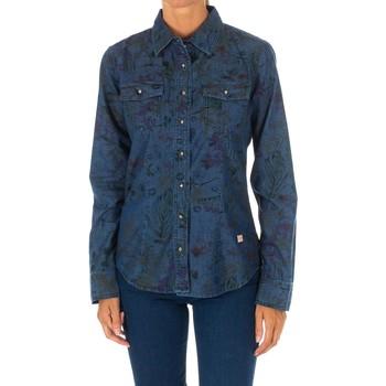 Textiel Dames Overhemden Met Shirt Tejano Blauw
