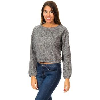 Textiel Dames Sweaters / Sweatshirts Met Sweat à manches longues Grijs