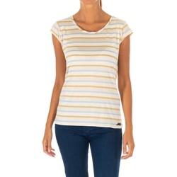 Textiel Dames T-shirts korte mouwen Met T-shirt m / court Beige