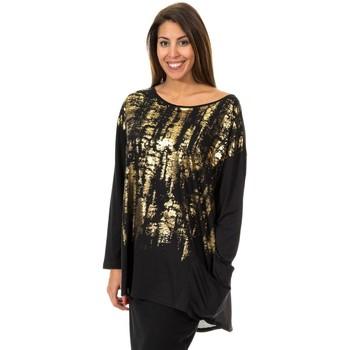 Textiel Dames Tunieken Met T-shirt à manches longues Zwart