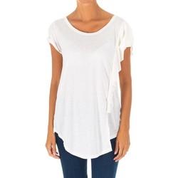 Textiel Dames Tops / Blousjes Met T-shirt à manches courtes Wit