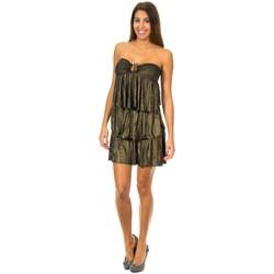 Textiel Dames Korte jurken Met Habillez avec Ondulé Zwart