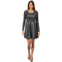 Textiel Dames Korte jurken Met Robe longue à manches Grijs