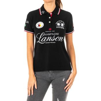 Textiel Dames Polo's korte mouwen La Martina Polo manches courtes Zwart
