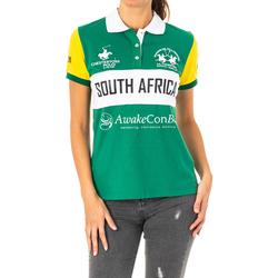 Textiel Dames Polo's korte mouwen La Martina Polo manches courtes Groen
