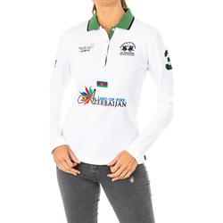 Textiel Dames Polo's lange mouwen La Martina Polo manches longues Wit