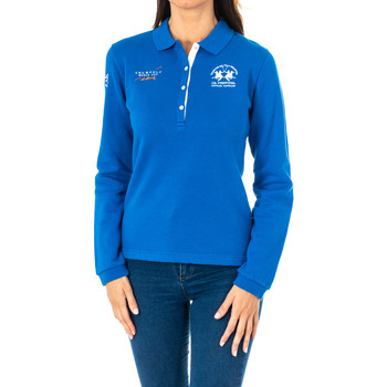 Textiel Dames Polo's lange mouwen La Martina Polo manches longues Blauw