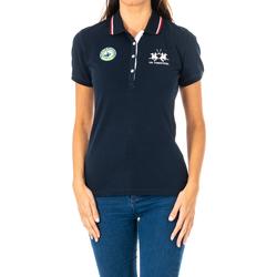 Textiel Dames Polo's korte mouwen La Martina Polo manches courtes Blauw