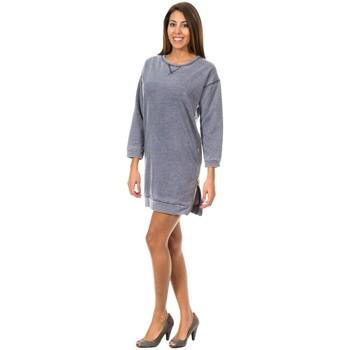 Textiel Dames Korte jurken Met Deportivo robe Blauw