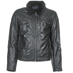 Textiel Heren Leren jas / kunstleren jas Teddy Smith BLEATHER Zwart