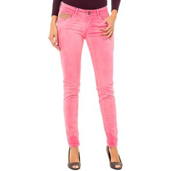 Textiel Dames 5 zakken broeken La Martina Pantalon élastique Roze