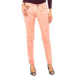 Textiel Dames 5 zakken broeken La Martina Pantalon élastique Orange