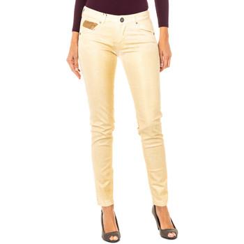 Textiel Dames 5 zakken broeken La Martina Pantalon élastique Goud
