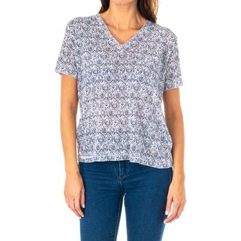 Textiel Dames Tops / Blousjes La Martina T-shirt à manches courtes Blauw