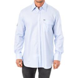 Textiel Heren Overhemden lange mouwen La Martina M / Chemise longue Blauw