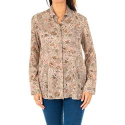 Textiel Dames Overhemden La Martina Chemise à manches longues Brown