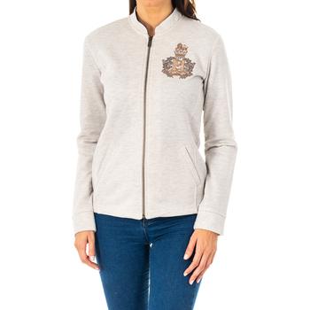 Textiel Dames Sweaters / Sweatshirts La Martina Veste m / long Grijs