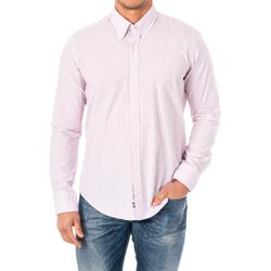 Textiel Heren Overhemden lange mouwen La Martina M / Chemise longue Roze