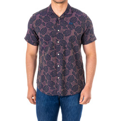 Textiel Heren Overhemden korte mouwen La Martina Chemise M / Short Violet