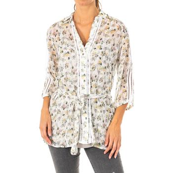 Textiel Dames Overhemden La Martina Chemise manches 3/4 Multicolour