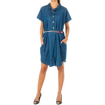 Textiel Dames Korte jurken La Martina Robe en jean Blauw