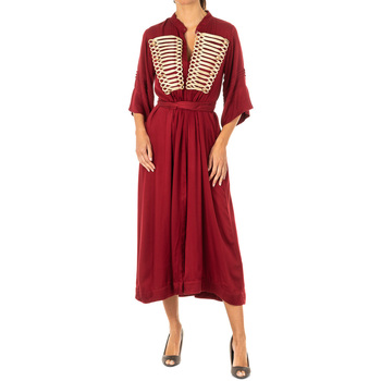 Textiel Dames Lange jurken La Martina Robe Rood