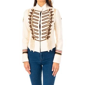 Textiel Dames Jasjes / Blazers La Martina Veste m / long Beige