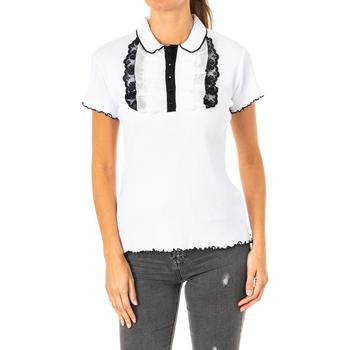 Textiel Dames Polo's korte mouwen La Martina Polo à manches courtes Wit