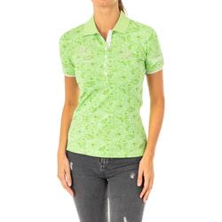 Textiel Dames Polo's korte mouwen La Martina Polo à manches courtes Groen