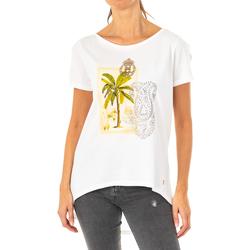 Textiel Dames T-shirts korte mouwen La Martina T-shirt à manches courtes Wit
